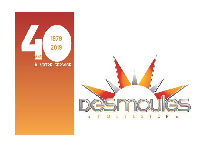 Logo desmoules polyester 40 ans